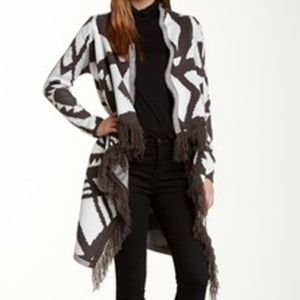 NWT Romeo Juliet Couture Long Fringed Cardi L